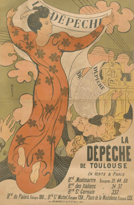early 20th century French poster