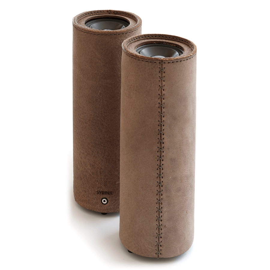 speakers made with deer leather