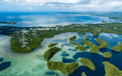 Palau islands Koror skyline