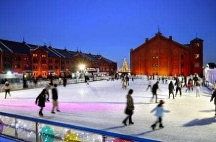 art rink red brick warehouse ice skating