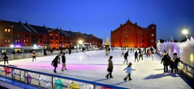 art rink red brick warehouse ice skating
