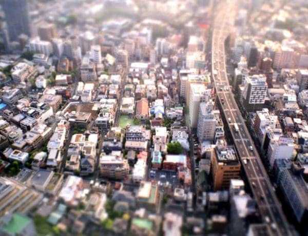 Photography of Tokyo houses from above showing various house and apartments for rent