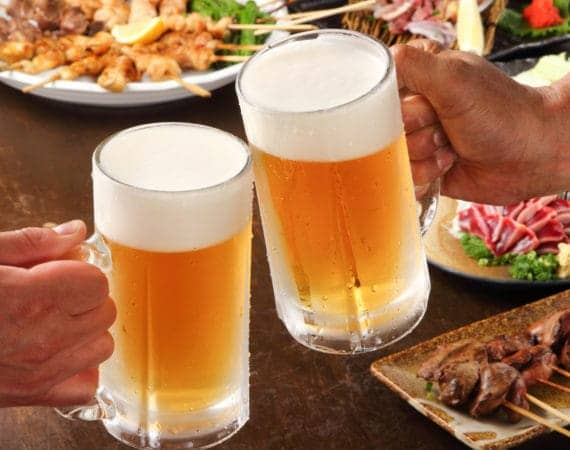 beer glasses bonenkai tokyo