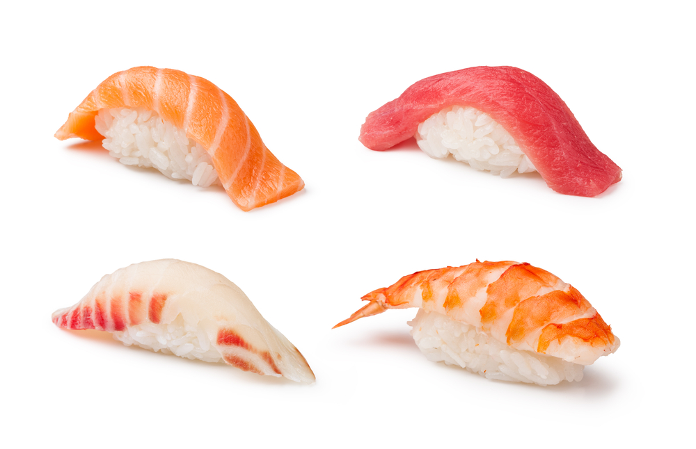 pieces of nigiri sushi