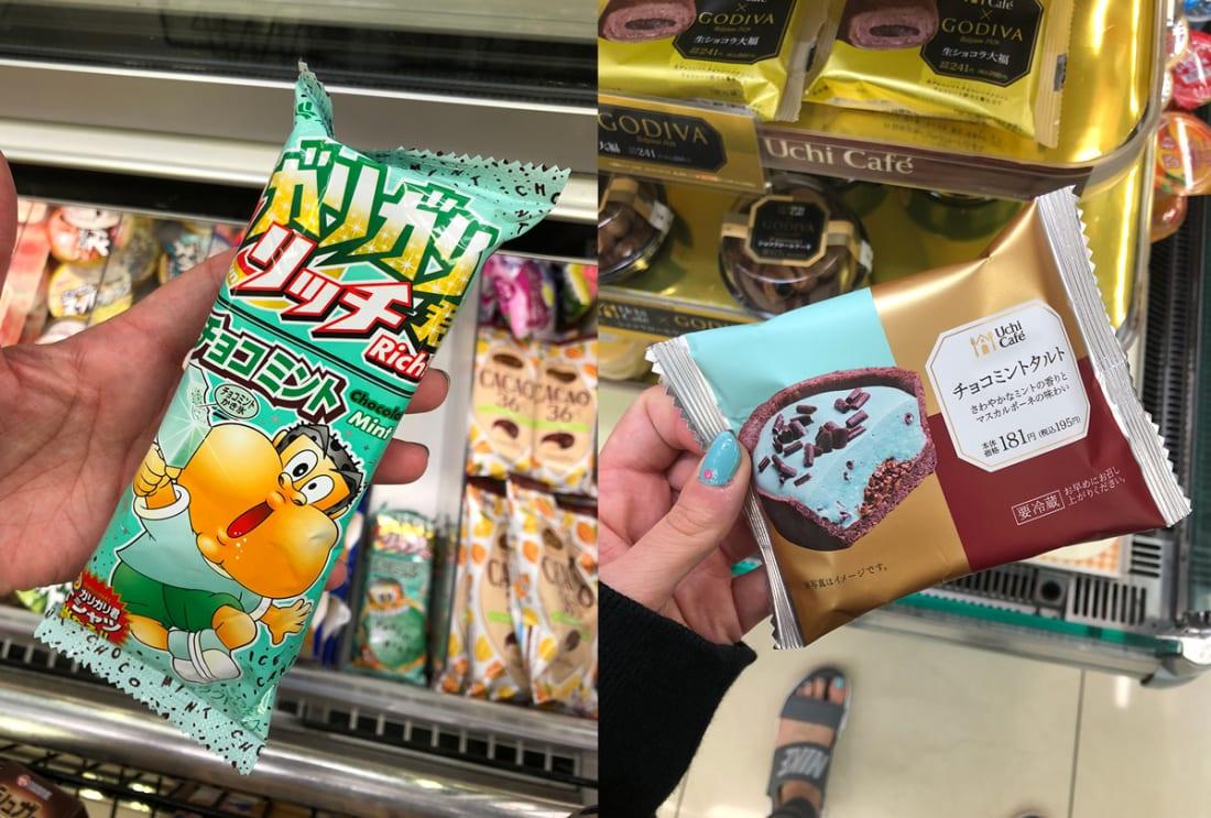 Gari Gari Kun Rich Chocolate Mint Ice Candy & Uchi Cafe Chocolate Mint Tart