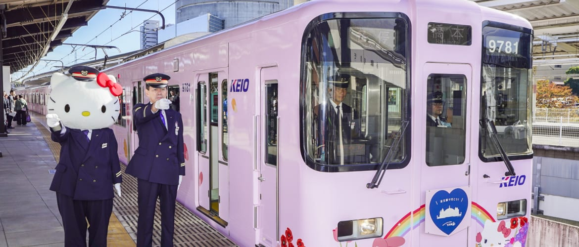 23fc9f43e Pretty in Pink: Tokyo's Hello Kitty Train is Pulling in the Station ...