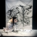 How Ibuki Kuramochi Combines Painting and Butoh Dance in Striking Live Shows