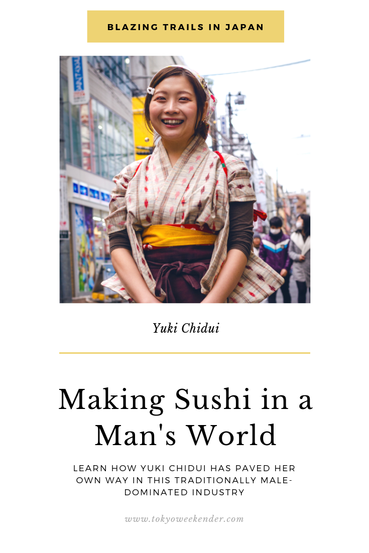 female sushi chef in Japan Yuki Chidui