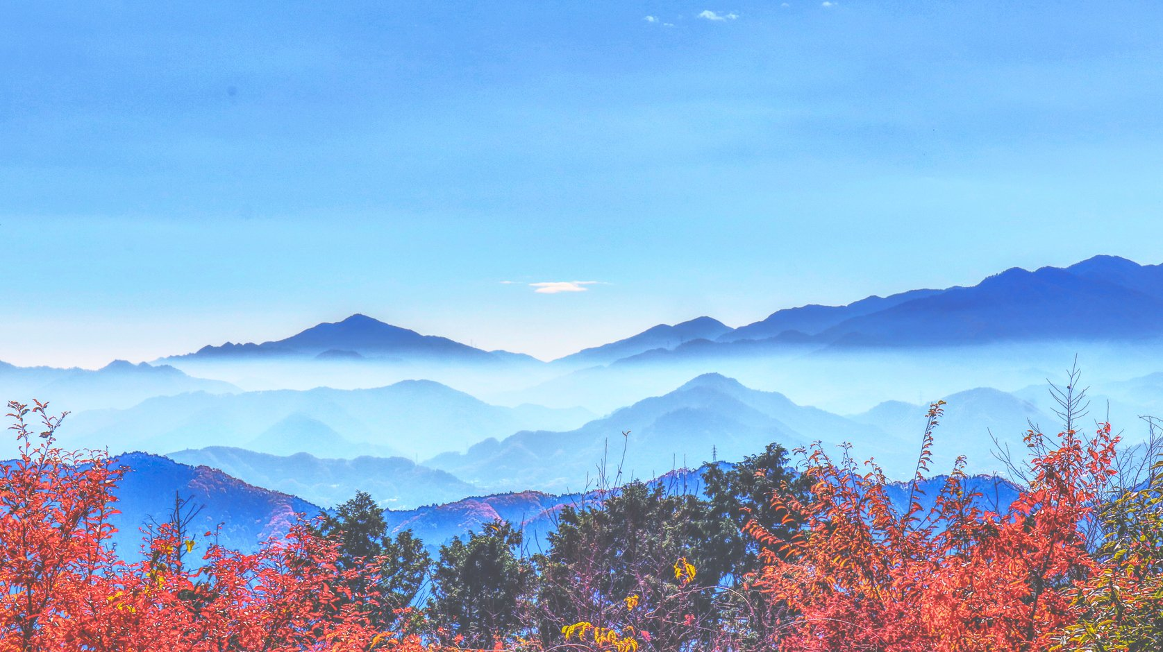 View from Mount Takao west of Tokyo