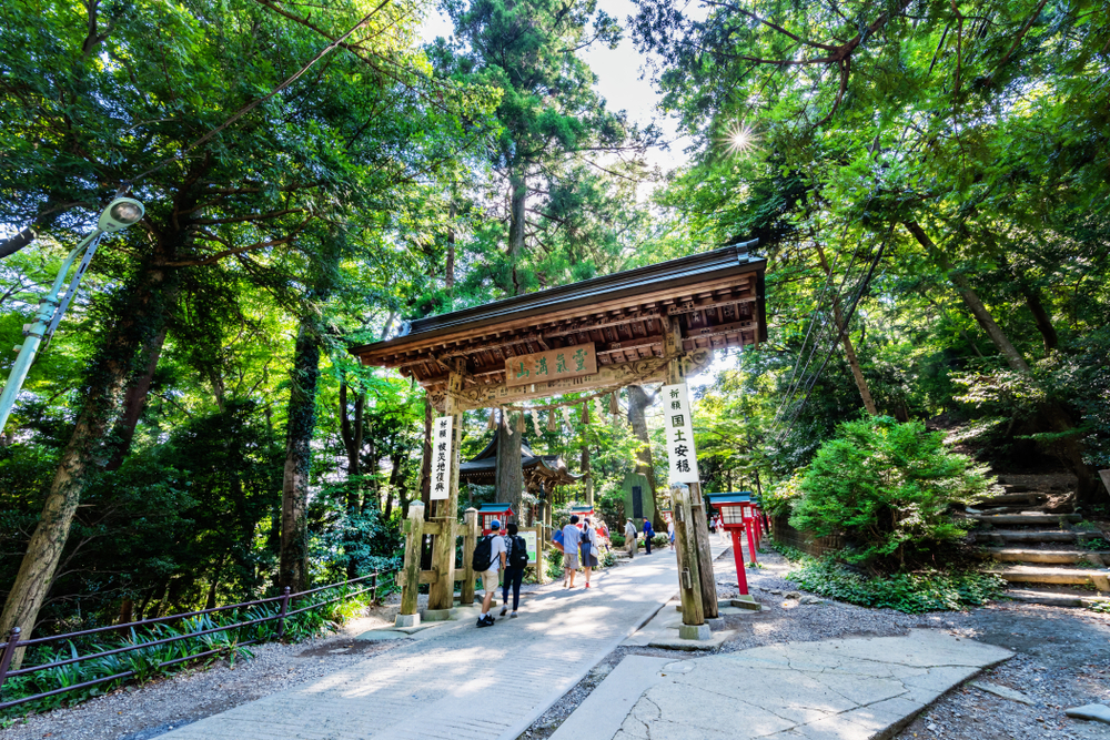 Hikers at Mount Takao in Tokyo