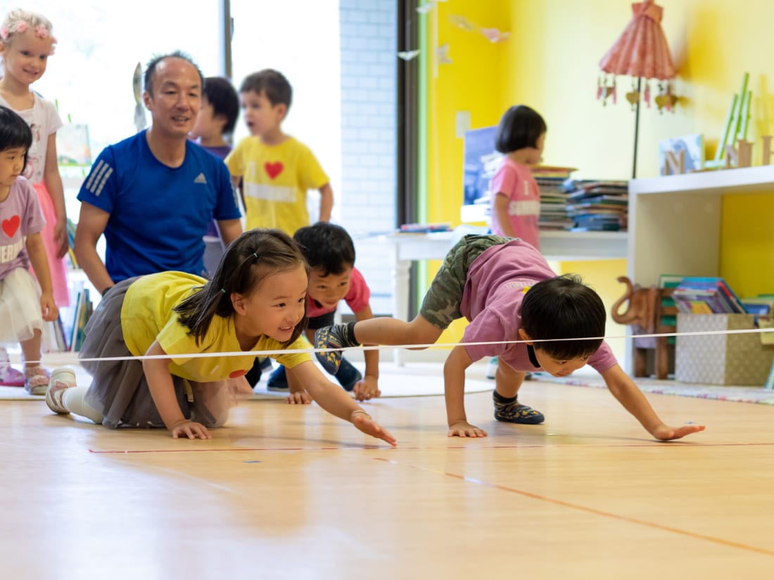 Children play at Summerhill International School in Tokyo