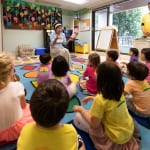 Children listen to teacher at Summerhill International School