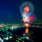 Fireworks display at Yokohama Sparkling Twilight
