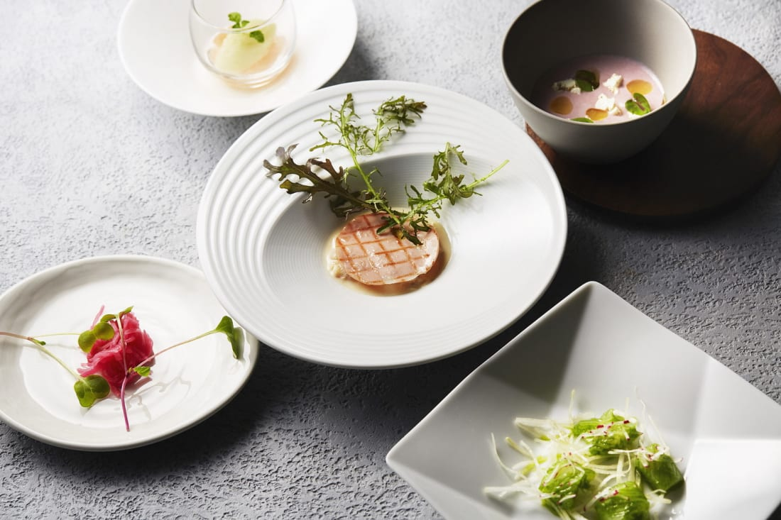 Dishes by Chef Pierre Gagnaire Tokyo Weekender