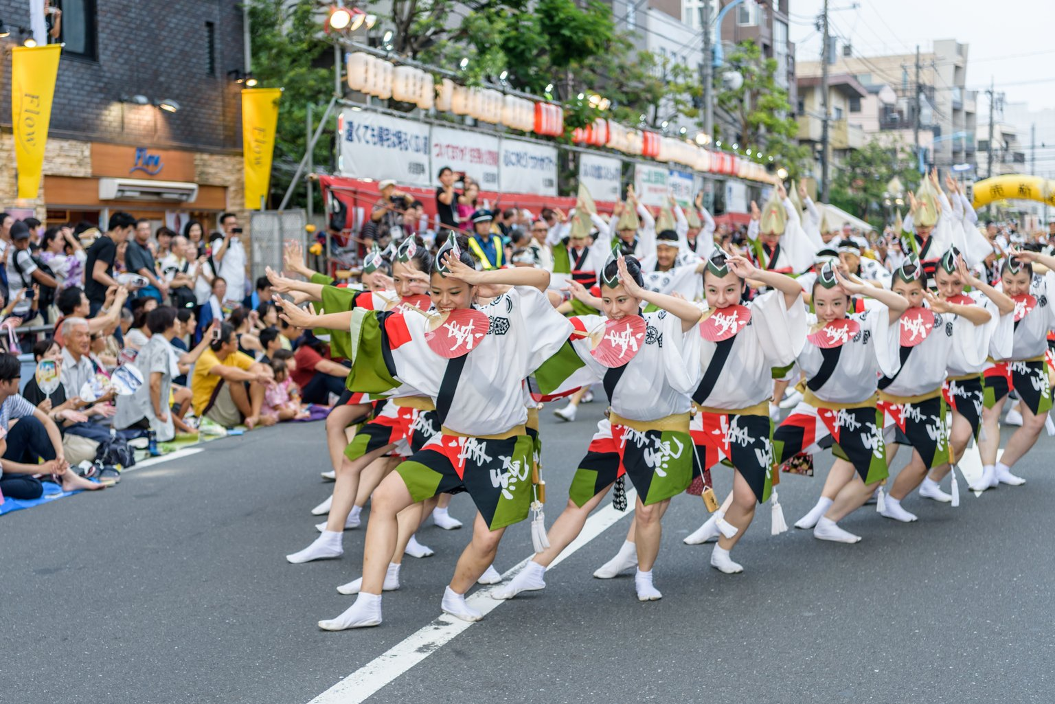 a group of dancers celebrating obon