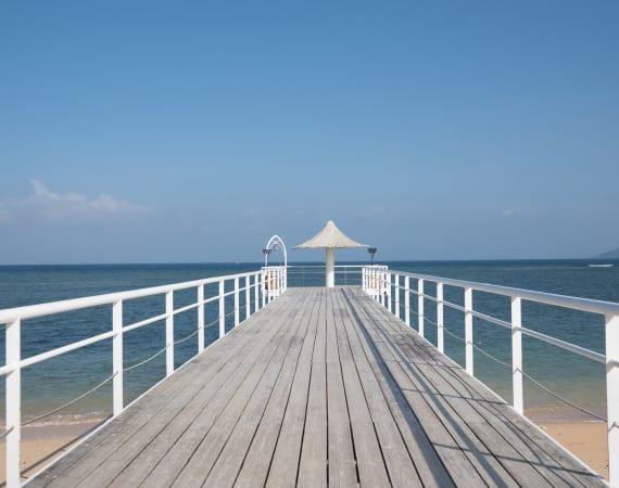 The beach at Fusaki Beach Resort in Okinawa