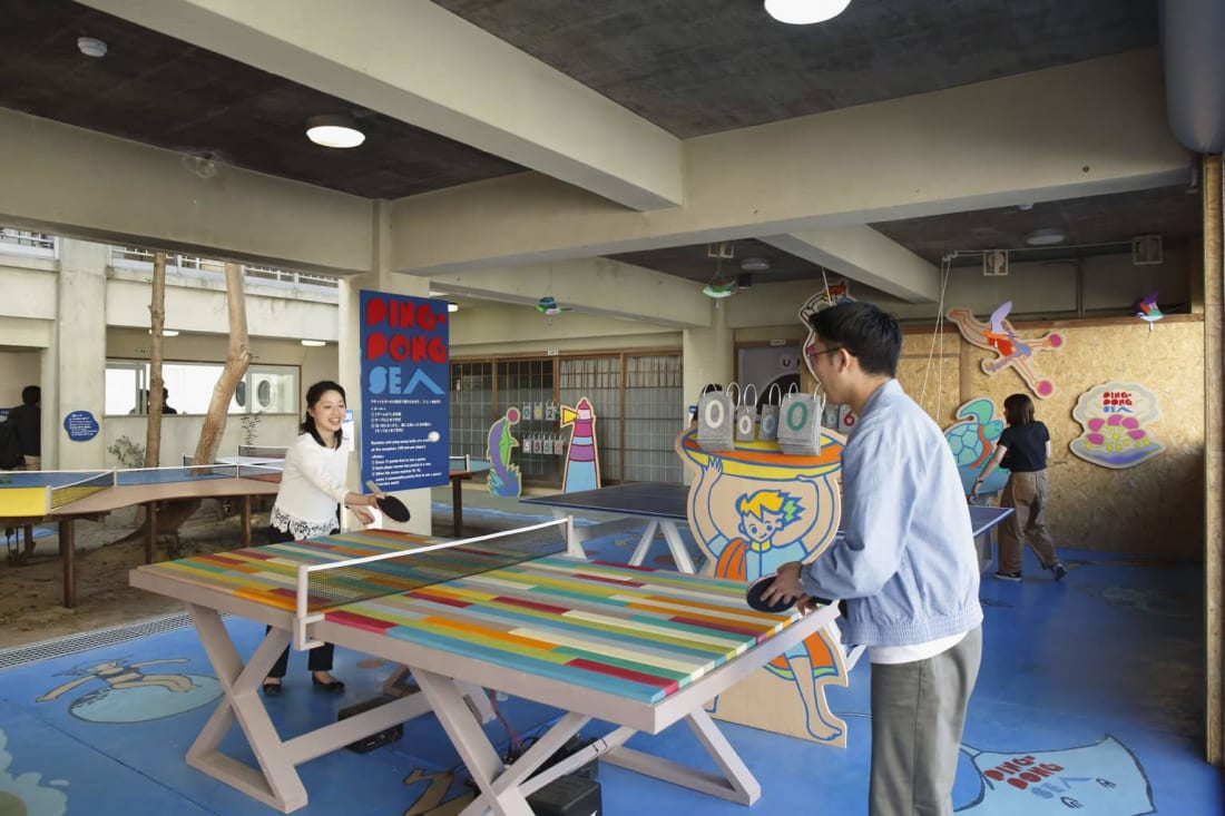 "Little Shops on the Island ""Ping-Pong Sea"" at Setouchi Triennale"