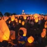 Night lanterns released at Shin Toyosu