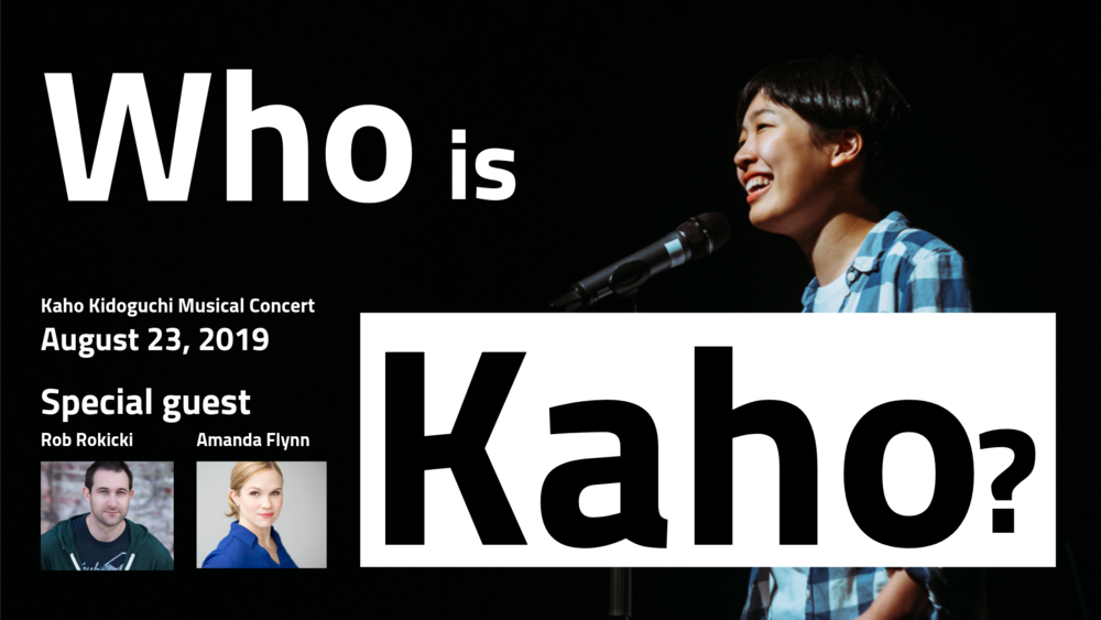 Kaho Kidoguchi performs Broadway musicals on YouTube