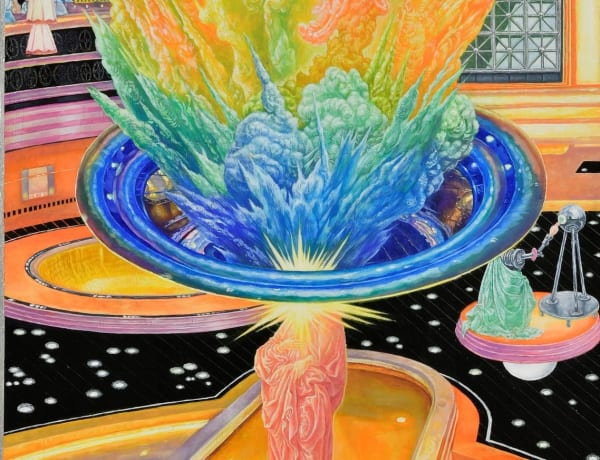 colorful exploding painting