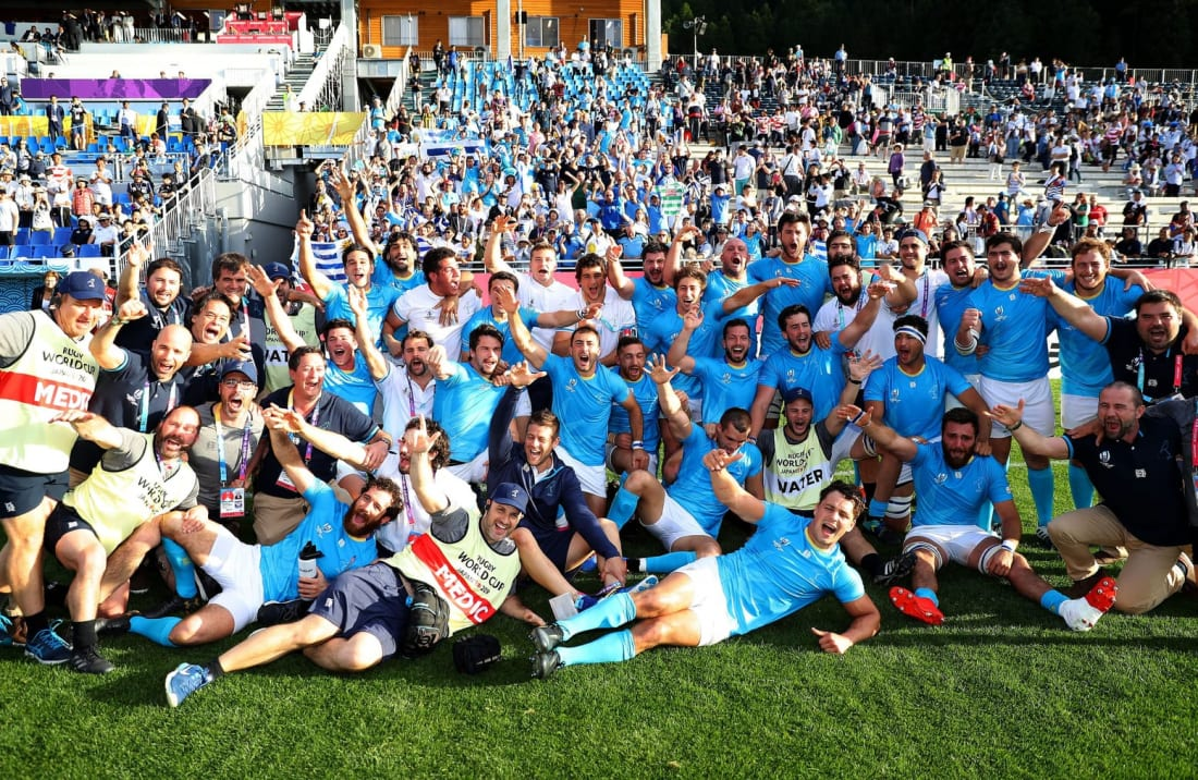 Uruguay celebrates Rugby World Cup victory