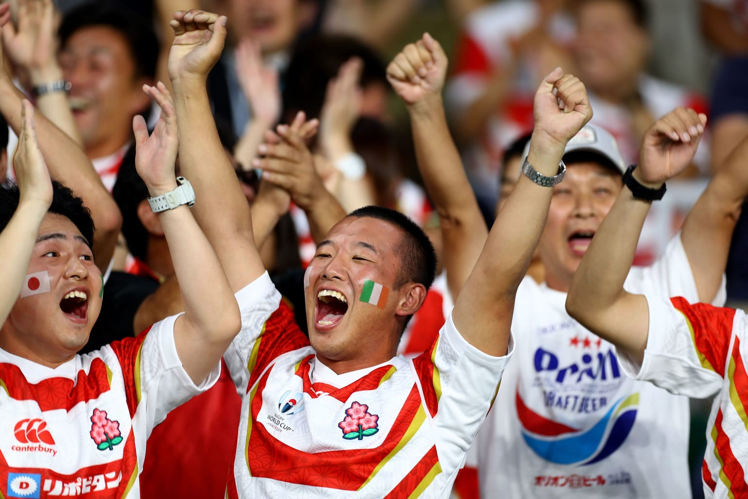 Japan fans at Rugby World Cup