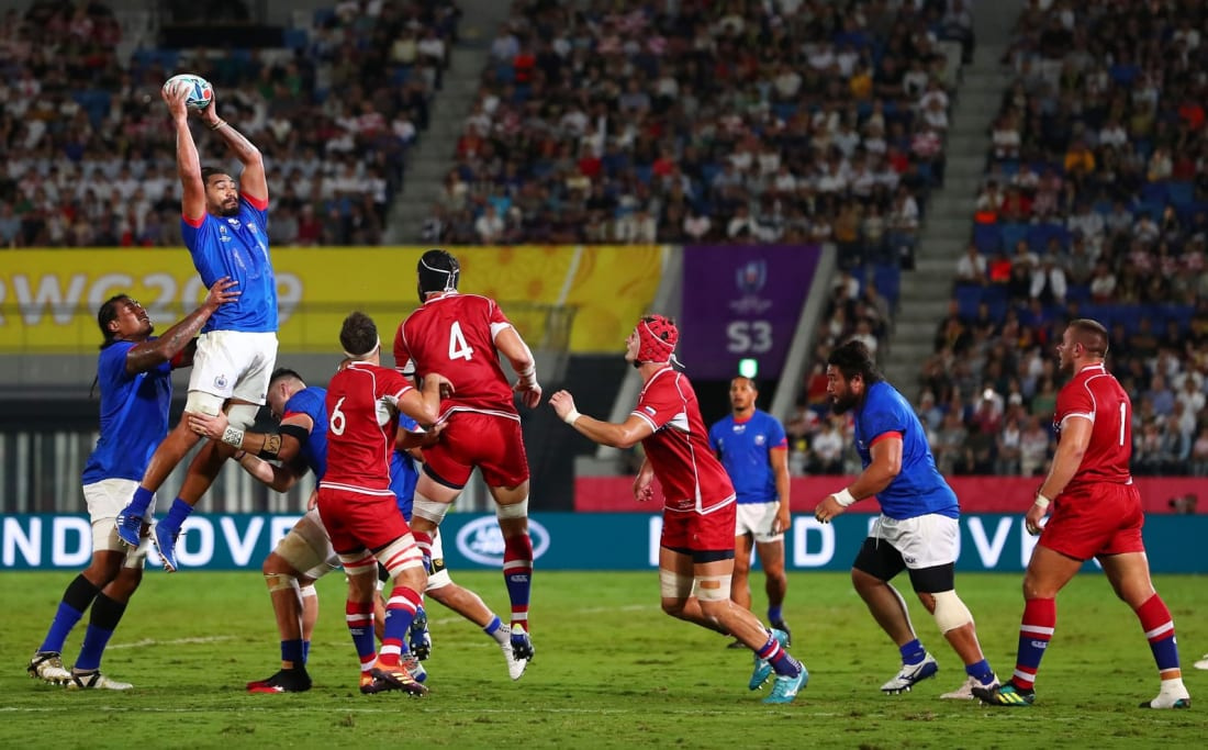 Russia vs Samoa at Rugby World Cup