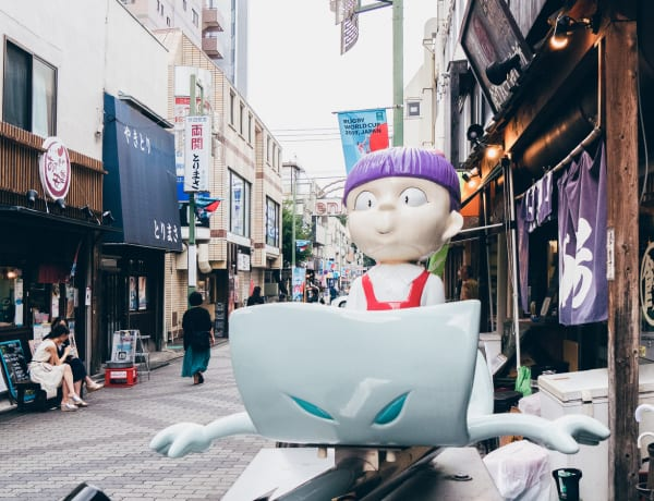 Tenjin-dori shopping street in Chofu