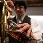 Bartender pouring beer in Tokyo