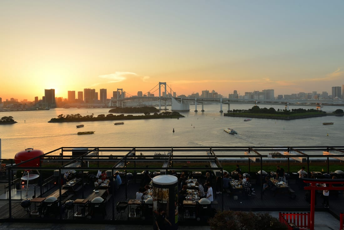 Barbecue at Weber Park in Odaiba