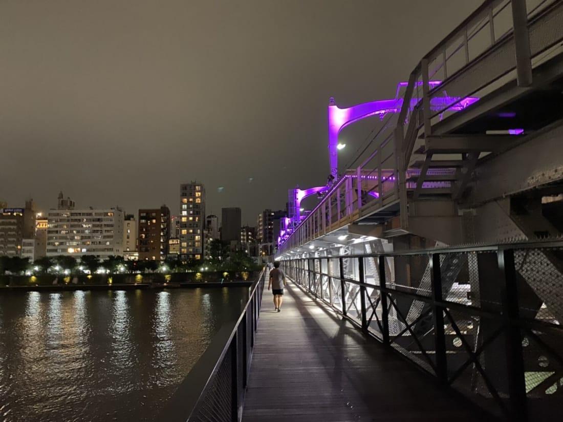 Sumida river scenic walking route