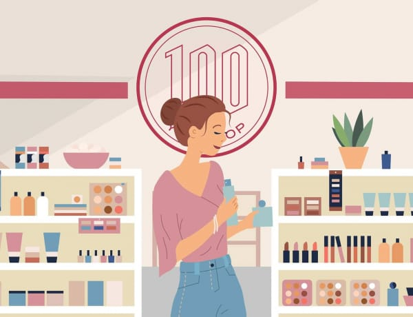 100-Yen Skincare products