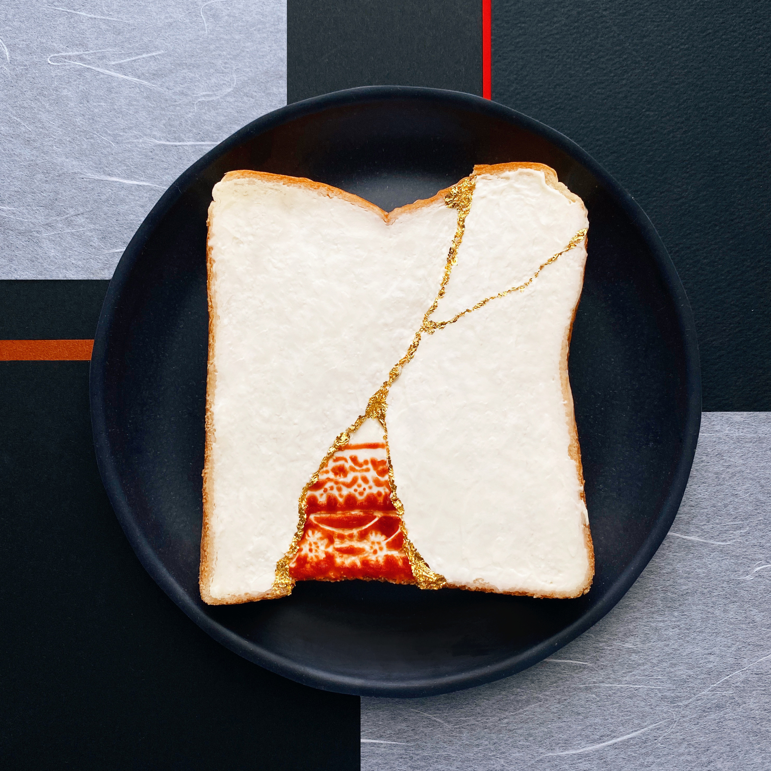 Manami Sasaki toast art kintsugi
