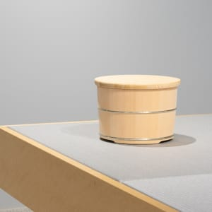 "HULS GALLERY TOKYO Edo yui-oke wooden tub ""Okeei"" Eifu Kawamata Exhibition ""Joining Plain Wood"""